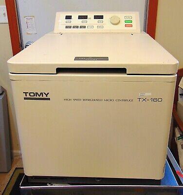 Tomy High Speed Refrigerated Micro Centrifuge Tx-160 24 Slot Rotor Tma-24 S4563