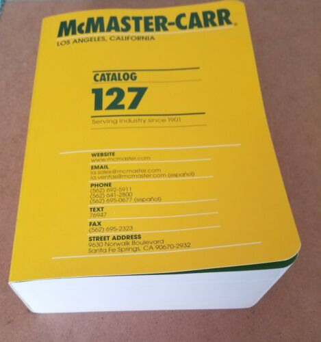 McMaster Carr Catalog 127 New 2021 - Los Angeles   FREE Shipping!