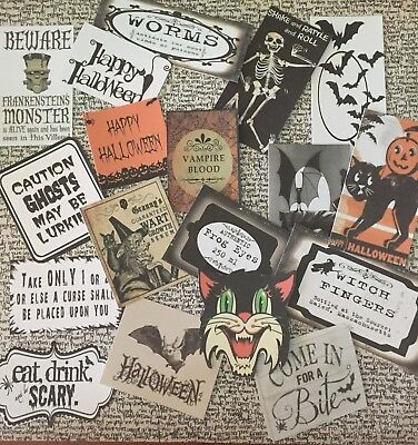 Halloween Die Cuts-Gift Tags~31 Pc~Mixed Media~Journal~Scrapbook~on Sale!](31 Halloween Crafts)