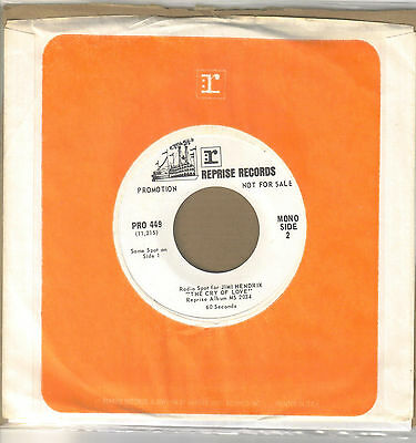 Jimi Hendrix  1 Minute  Radio Spot For Cry Of Love Album White Label Promo