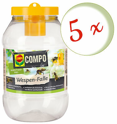 Savings Set: 5 x Compo Wasp Trap, 1 Piece