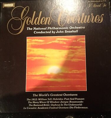 Warwick Golden Overtures The National Philharmonica Orchestra 3Vinyl LP Box Set