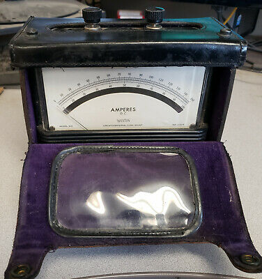 Weston Model 901 Dc Ampere Test Meter With Orignal Leather Case