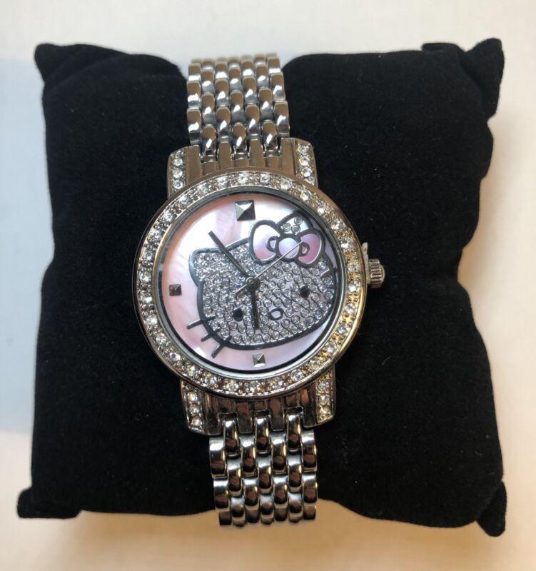 Hello Kitty Stainless Steel Rhinestone Watch!