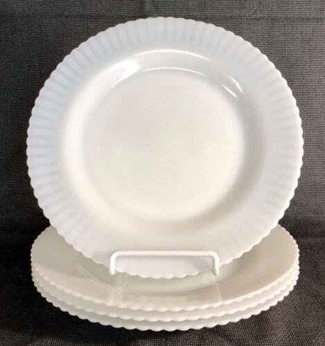 "4 MacBeth Evans Monax Petalware 9"" Dinner Plates"