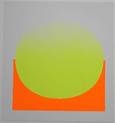Rupprecht Geiger farbiger Siebdruck 1969 schönes Blatt