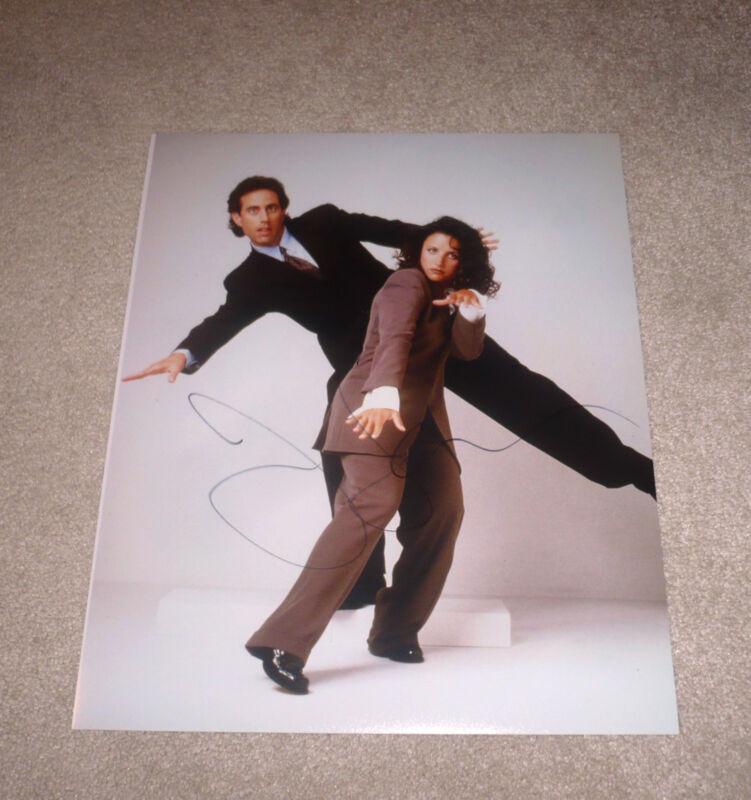 JERRY SEINFELD SIGNED 11X14 PHOTO W/COA JULIA LOUIS DREYFUSS DUAL EMMY WINNER