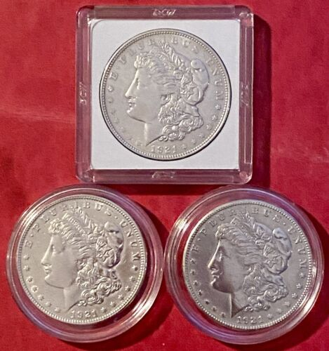 1921 Morgan Silver Dollar s . 1921-P, 1921-D And 1921- S. 90 US Coin. - $134.50
