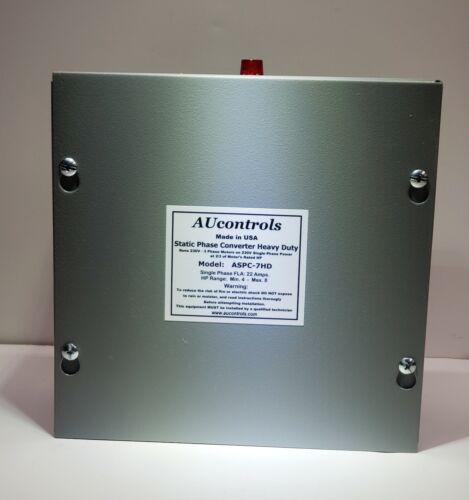 Static Phase Converter runs 4 to 8HP 230VAC, 3-Phase Motors w/single phase power