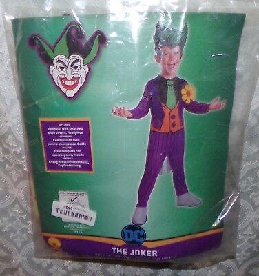 Dc Comics Joker Halloween Kostüm XS 2 - 4 Alter 3+ Kinder Neu Batman Neu Kinder ()