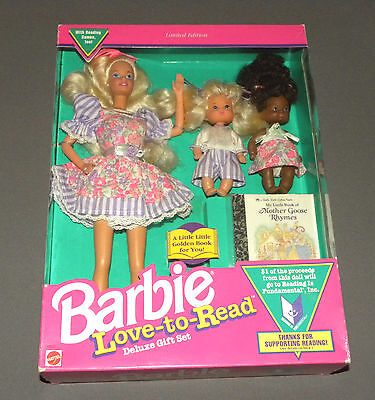 Vintage 1992 Love To Read Barbie Doll Limited Edition Deluxe Gift Set