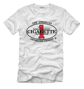New*CIGARETTE RACING TEAM* - SPEED BOATS, POWERBOATS Black/White T-SHIRT S-3XL