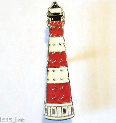 Lighthouse Ships Navigational Aid Metal Enamel Boat Badge Lapel Pin or Brooch