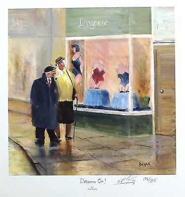 "DES BROPHY ""Dream On!"" pensioners lingerie SIGNED LTD! SIZE:41cm x 40cm NEW RARE"