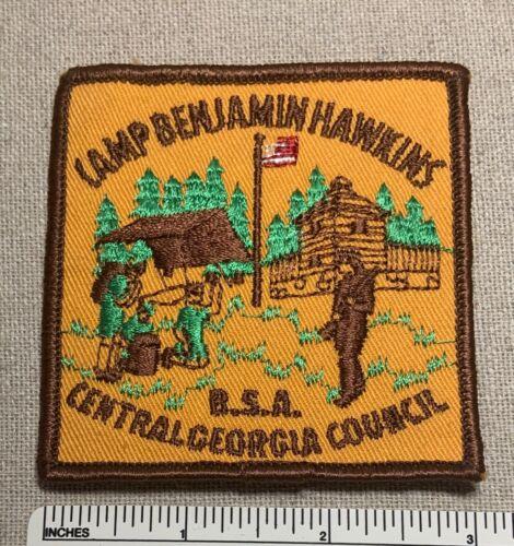 Vintage 1970s CAMP BENJAMIN HAWKINS Boy Scout PATCH Central Georgia Council BSA
