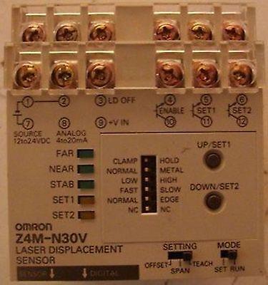 Omron Z4m-n30v Laser Displacement Sensor
