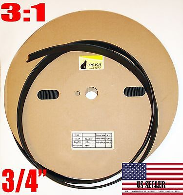 5 Feet - 34 Dual Wall Black Heat Shrink Tubing 31 Adhesive Glue Lined Tubes