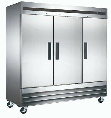 Vortex Commercial 3 Door Refrigerator - Bottom Mount Compressor