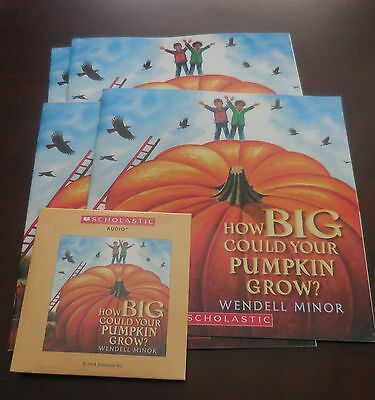 How Big Could Your Pumpkin Grow Scholastic Listening Center Set 4 Books with CD