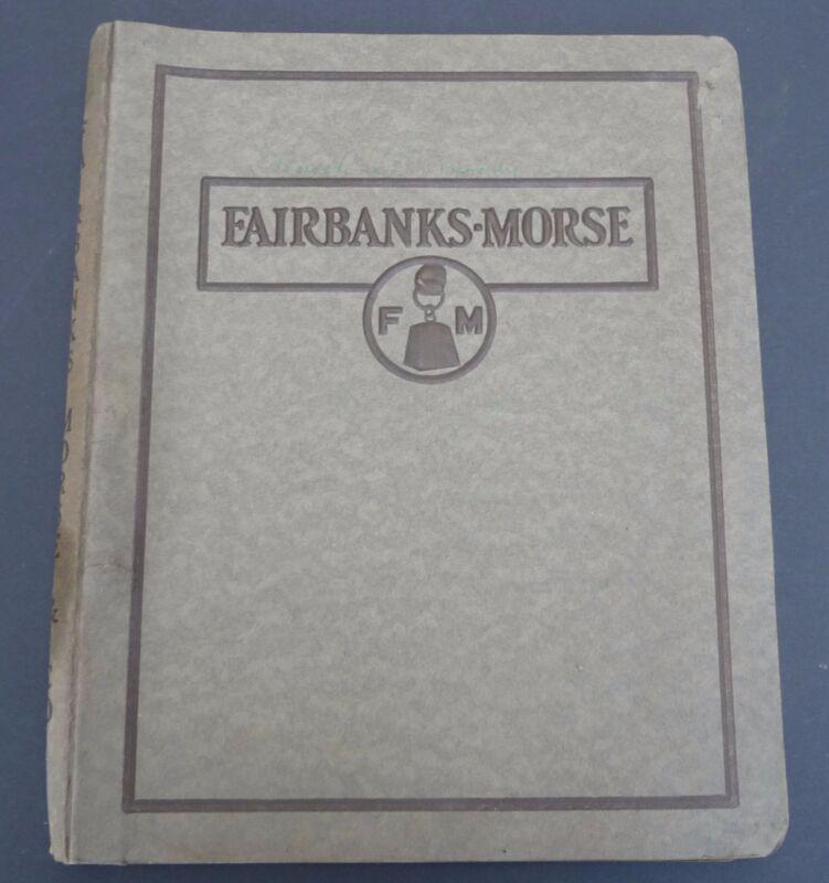 Vintage 1920s Fairbanks Morse Catalog Bulletins AC Motors Steam & Power Pumps