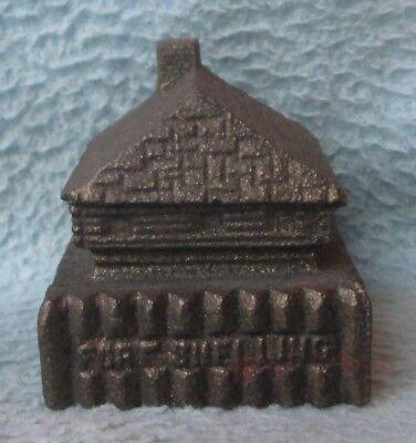 Vintage Fort Snelling Minnesota Souvenir Miniature Metal Building Paperweight