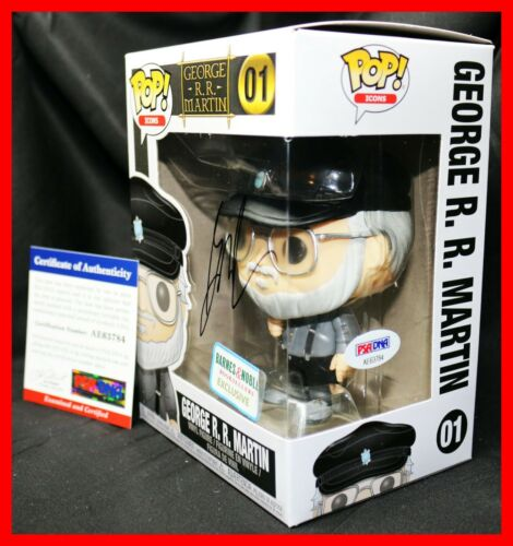 RARE! George RR Martin R. R Signed Game Of Thrones Autographed Funko POP PSA JSA