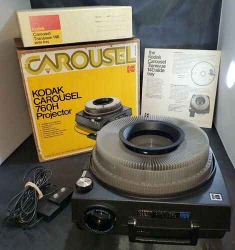 Kodak Carousel 760H Slide projector + remote in Original Box