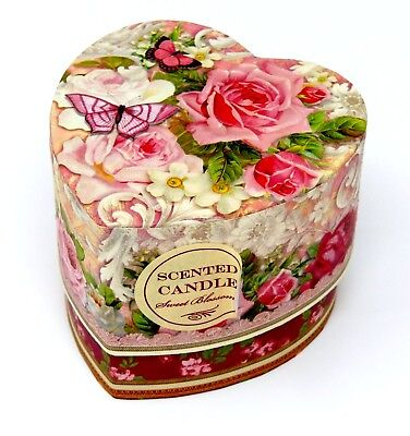 Punch Studio 5 oz. Sweet Blossoms Scented Candle in a Keepsake Heart Box 58022