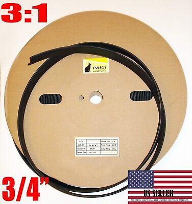20 Feet - 34 Dual Wall Black Heat Shrink Tubing 31 Adhesive Glue Lined Tubes