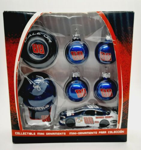 NASCAR Dale Earnhardt Jr. Collectible Mini Christmas Ornament Set