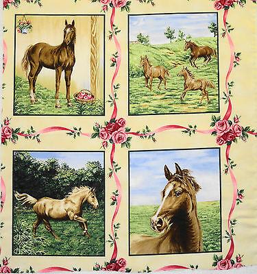 American Beauties Horses western horse blocks set of 8 P&B Textiles Quilt fabric