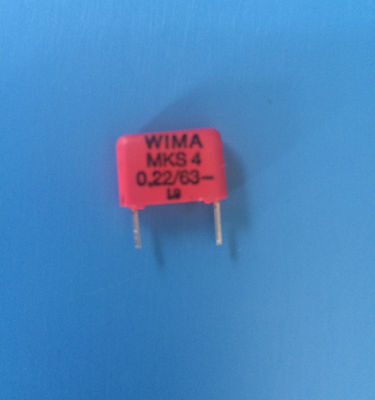 Mks4 0.226310 Wima Capacitor Metallized Poly 0.22uf 63v 10 Radial 10mm
