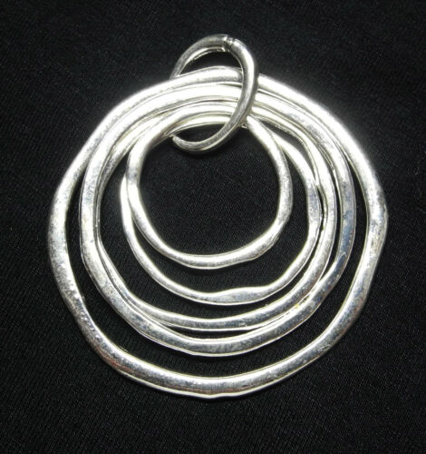 Concentric Pewter Ring Pendant All 5 Rings