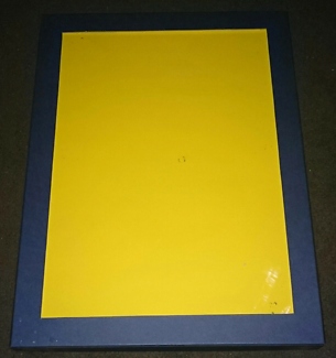 Blue framed file o frame