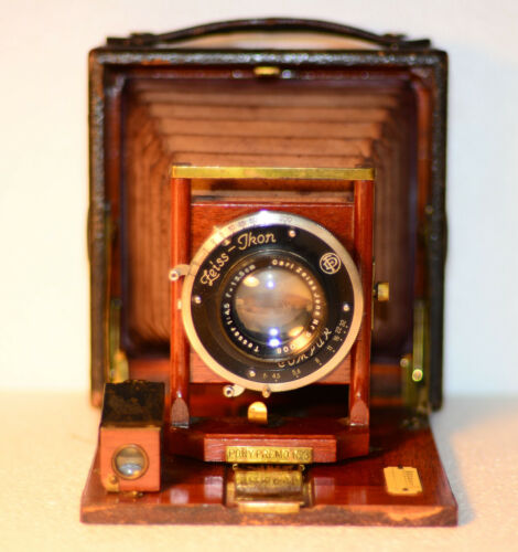 Vintage leather covered wooden camera ca 1900