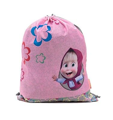 Bag for Shoes Masha and the Bear Backpack Bag Preschool for Baby Small pink