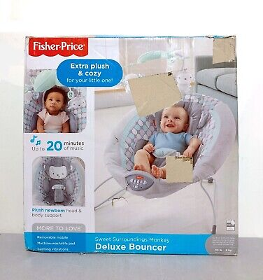Fisher-Price Sweet Surroundings Monkey Deluxe Bouncer Bay Seat