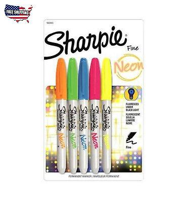 Sharpie Neon Permanent Marker Assorted 5 Count