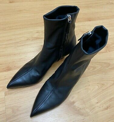 Women's Acne Studios Bilbo Leather Booties Boots Shoes. Black Size 38. Ship Free