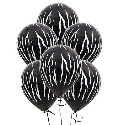 Zebra Striped Balloons; Jungle Birthday Decorations; Safari Theme; Baby Shower