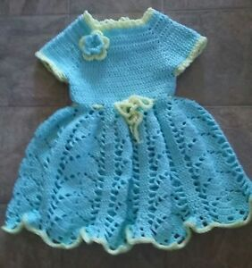 Handmade Crocheted girl's  dress