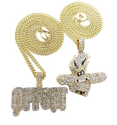 Iced OFFSET, Cartoon Character Pendant & 20