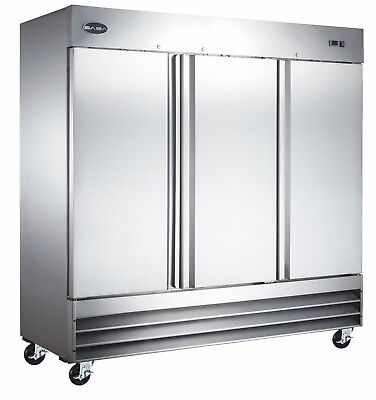 Saba Heavy Duty Commercial Reach-in Refrigerator 3 Door Stainless Steel