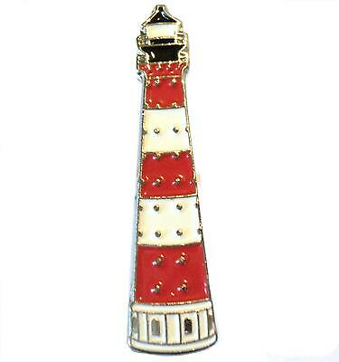 Lighthouse Ships Navigational Aid Metal Enamel Boat Badge Lapel Pin or Brooch