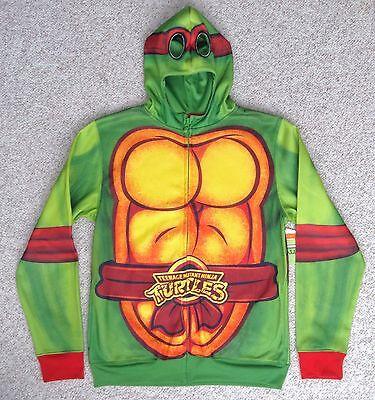 TMNT BODY COSTUME ZIP-HOODIE&HOOD MASK Track Jacket Teenage Mutant Ninja Turtle