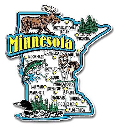 (Minnesota Jumbo State Map Fridge Magnet)