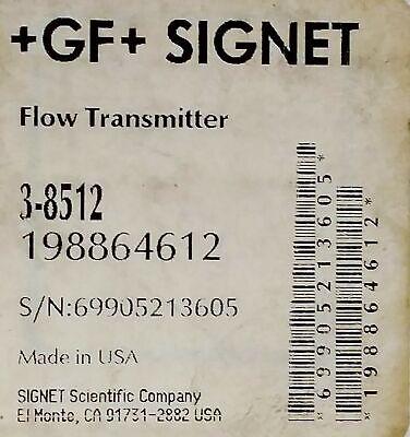Georg Fischer Signet 3-8512 Flow Transmitter