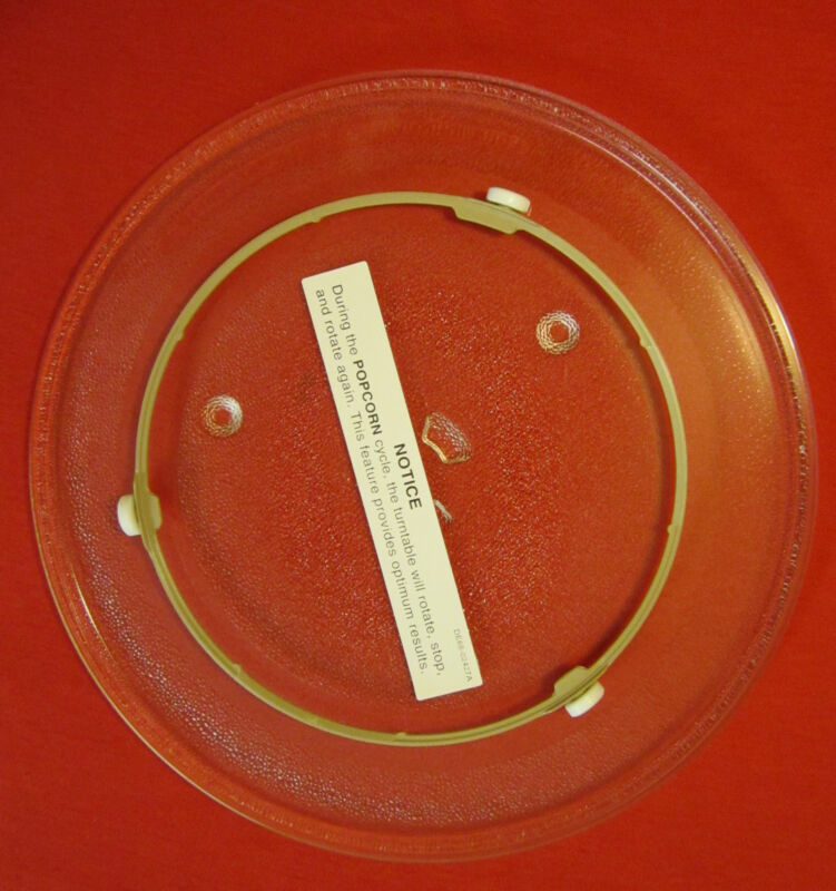 WB49X10097 & WB06X10304 GE GENERAL ELECTRIC MICROWAVE GLASS TRAY AND ROLLER RING