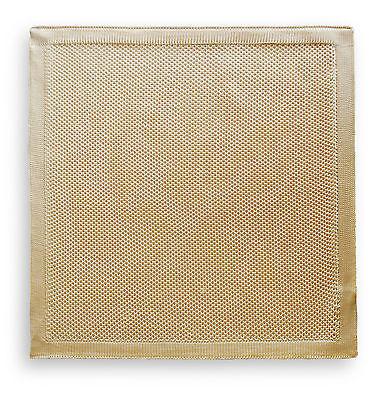 Frederick Thomas caramel beige knitted pocket square FT3173