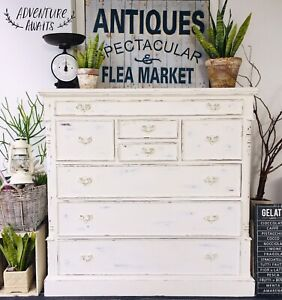 ✨HEAVY VINTAGE VARIOUS DRAWERS DRESSER- Winter Upcycled series✨